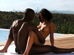 Ebony couple exploring their sexuality