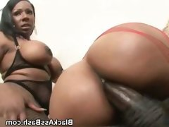 Black girls ride cock with their big..