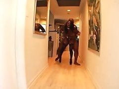 Jada fire sits on her knees to suck..