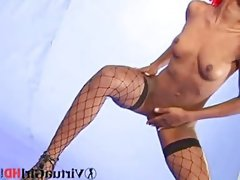 Kristel shows her brown body in..