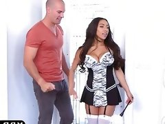Super hot black maid priya price fucks..