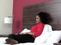Ebony teen swallows spunk