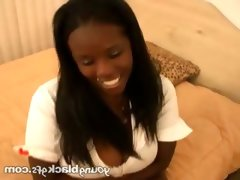 Lovable teen black girlfriend diva
