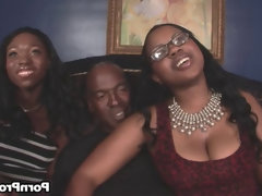Ebony & laylani starr share a big..