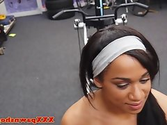 Real muscular ebony giving head naked..